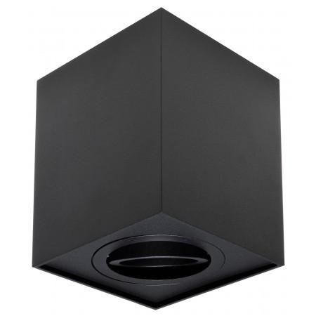 Foco Halógeno GU-10 Superficie Alverlamp Negro Cuadrado 9.6cm