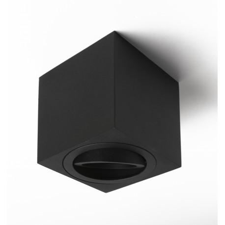 Foco Halógeno GU-10 Superficie Alverlamp Negro Cuadrado 8cm