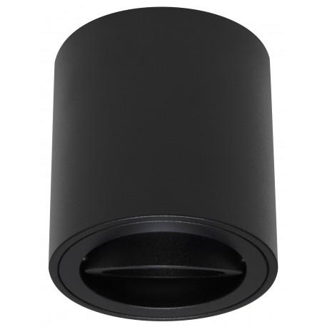 Foco Halógeno GU-10 Superficie Alverlamp Negro Redondo 8cm