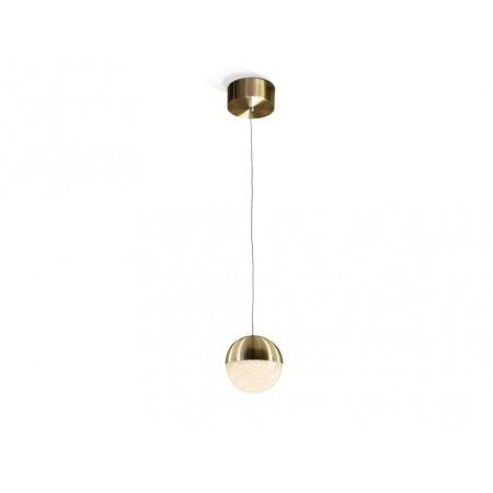 Lámpara Colgante LED Sphere Schuller Cuero 1 Luz 12cm