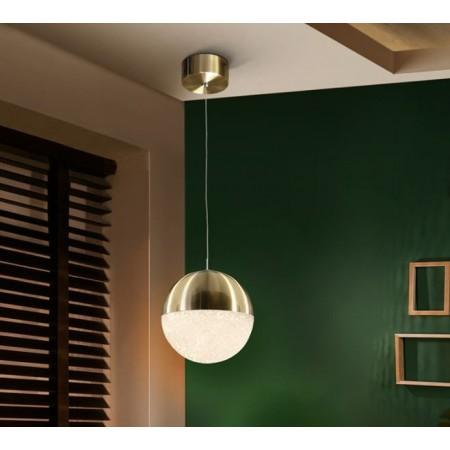Lámpara Colgante LED Sphere Schuller Cuero 1 Luz 20cm