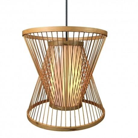 Lámpara Colgante Fabrilamp Croton Bambú Boho REGX30X30