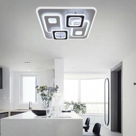 Plafón de Techo Kelektron Retro LED Integrado Blanco/Café 120W