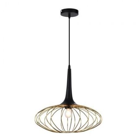 Lámpara Colgante Tegaluxe Industrial 40cm Negro/Oro