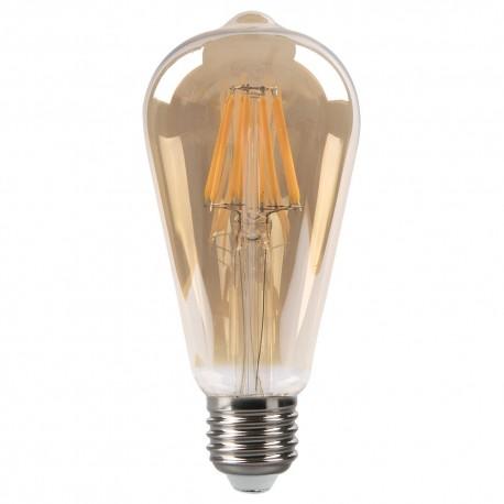 Bombilla LED Vintage Pera con Filamento 8W E27 65mm