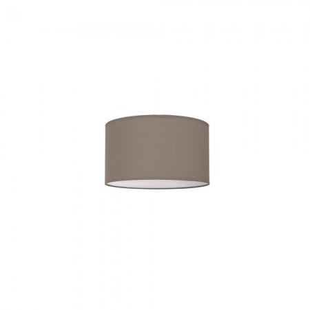 Lámpara Plafon Nicole 30 Cromo pantalla Marrón Topo