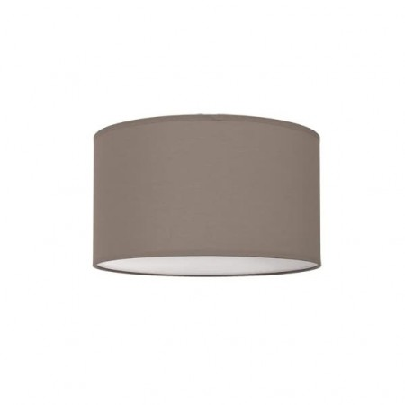 Lámpara Plafón Nicole 50 Cromo pantalla Marrón Topo