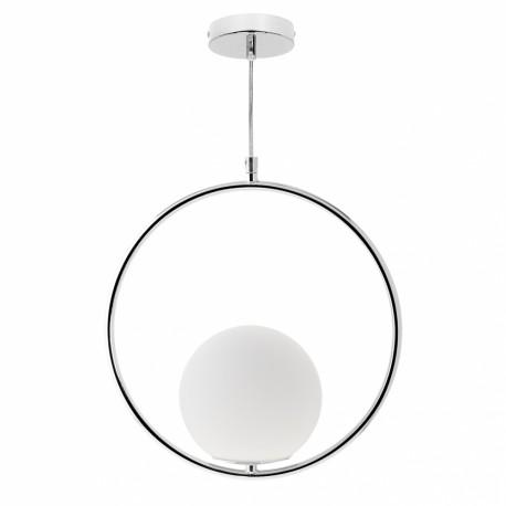 Lámpara Colgante Fabrilamp Aimee Esfera Cromo 1xE27