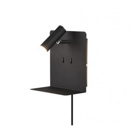 Aplique de Pared Trio Element LED-USB Negro