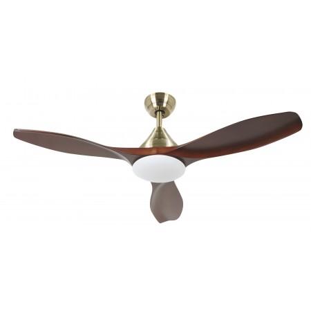 Ventilador de Techo LED Zioneled Mini Levante Marrón y Bronce 106cm