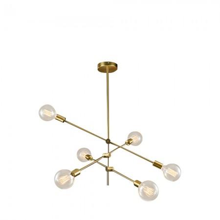 Lámpara Colgante Fabrilamp Jerusalen 6xE27 Bronce 73x81x81cm