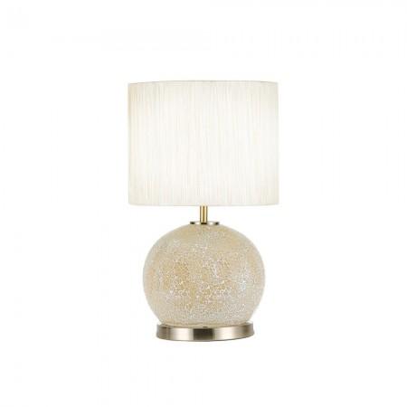 Lámpara de Sobremesa Fabrilamp Cristal Secoya E27+LED 5W Ambar/Cuero