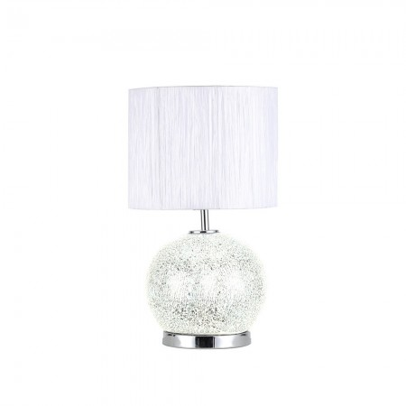 Lámpara de Sobremesa Fabrilamp Cristal Secoya E27+LED 5W Espejo/Cromo