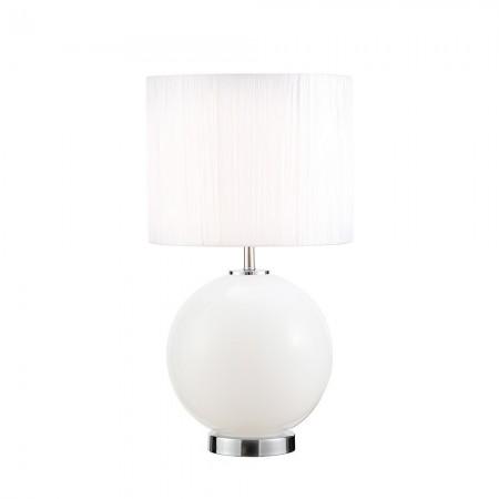 Lámpara de Sobremesa Fabrilamp Cristal Teka E27+LED 5W Blanco/Cromo