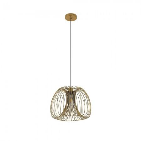 Lámpara Colgante Fabrilamp Camelia Esférico Oro 35cm