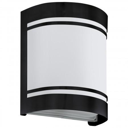 Aplique de Pared Exterior Eglo Cerno Acero galvanizado Negro