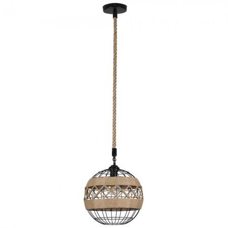 Lámpara Colgante Fabrilamp Soga Cuerda Boho circular REGx30D