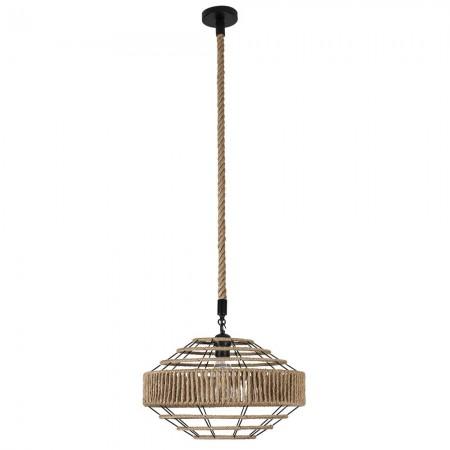 Lámpara Colgante Fabrilamp Soga Cuerda Boho cónica REGx40D