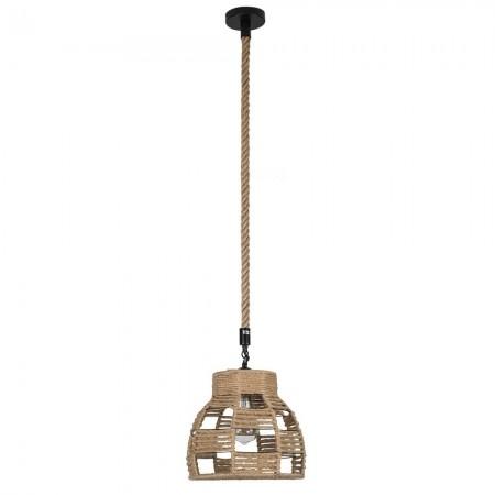 Lámpara Colgante Fabrilamp Soga Cuerda Boho campana REGx30D