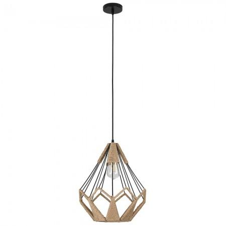 Lámpara Colgante Fabrilamp Soga Cuerda Boho Diamante REGx33D