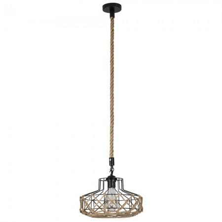 Lámpara Colgante Fabrilamp Soga Cuerda Boho Jaula REGx30D