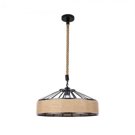 Lámpara Colgante Fabrilamp Soga Cuerda Boho Cáñamo REGx30D