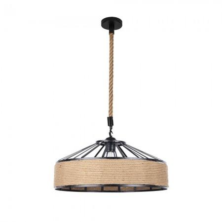 Lámpara Colgante Fabrilamp Soga Cuerda Boho Cáñamo REGx40D