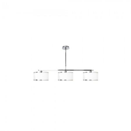 Lámpara Colgante Lanzarote Cromo Blanco 3 luces