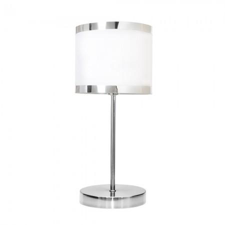 Lámpara de Sobremesa Lanzarote Cromo Blanco 1 luz