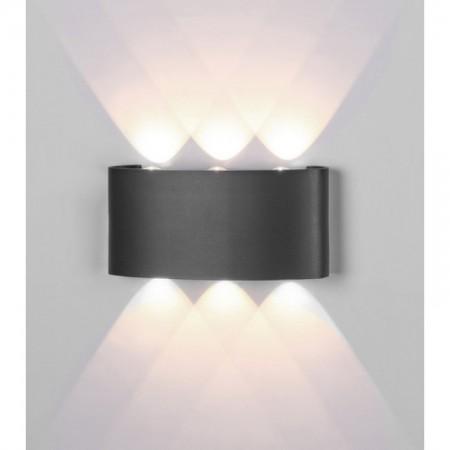 Aplique de Pared para Exterior LED Mantra Arcs Gris Oscuro Cálida 6W