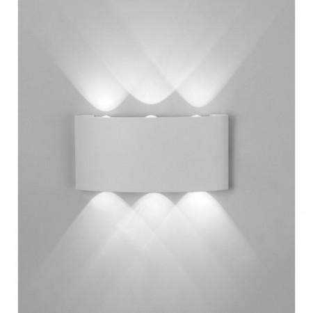 Aplique de Pared para Exterior LED Mantra Arcs Blanco Cálida 6W
