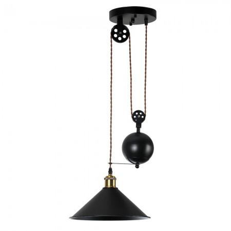 Lámpara Colgante Fabrilamp Triguero 1xE27 Cuerda y Campana