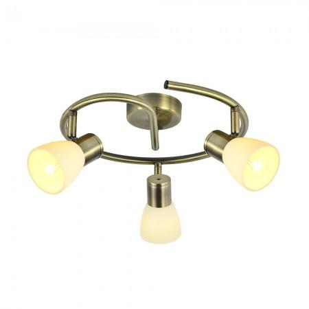Regleta de Focos Circular Fabrilamp Cholo Cuero 3xE14