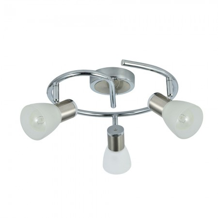 Regleta de Focos Circular Fabrilamp Cholo Cromo/Níquel 3xE14