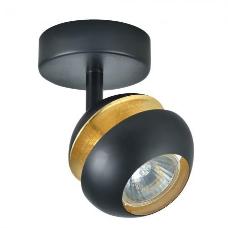 Foco Fabrilamp Beethoven Negro/Oro Orientable 1xGU10