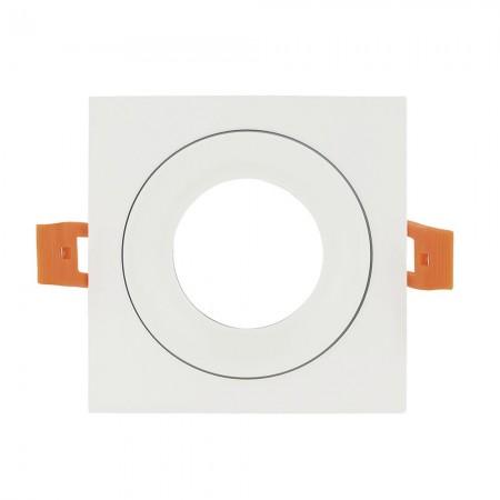 Halógeno empotrable LED Fabrilamp Anou cuadrado Blanco GU-10