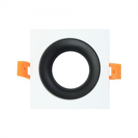 Halógeno empotrable LED Fabrilamp Anou cuadrado Blanco/Negro GU-10