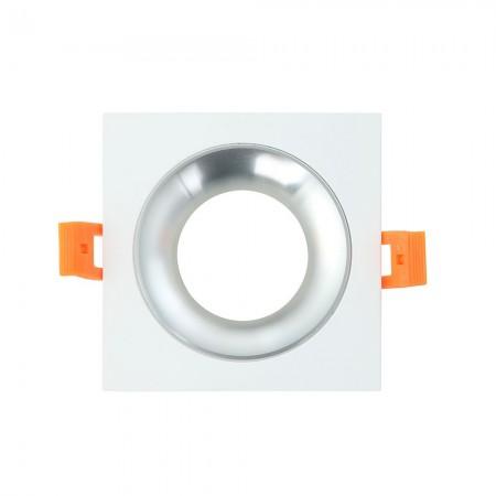Halógeno empotrable LED Fabrilamp Anou cuadrado Blanco/Cromo GU-10