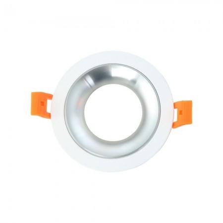 Halógeno empotrable LED Fabrilamp Anou redondo Blanco/Cromo GU-10