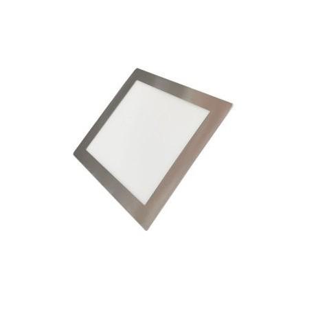 Downlight LED Empotrable Cuadrado Níquel Satinado Luz Blanca 22.5cm