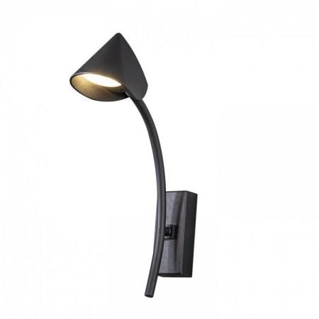 Aplique de Pared LED Mantra Capuccina 7W Negro