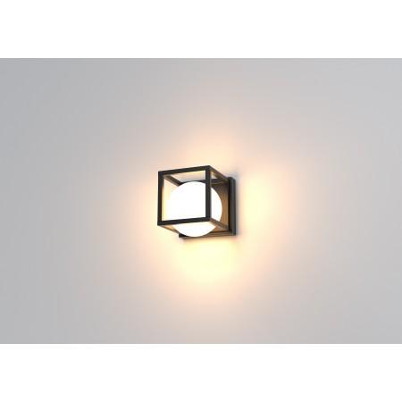 Aplique de Pared LED Mantra Desigual 1xE27 20cm Negro