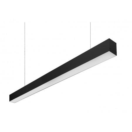 Plafón Lineal Colgante LED Tarifa Negro 48W 120cm