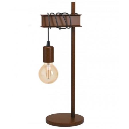 Lámpara de Sobremesa Vintage Eglo Townshend 4 Marrón Óxido