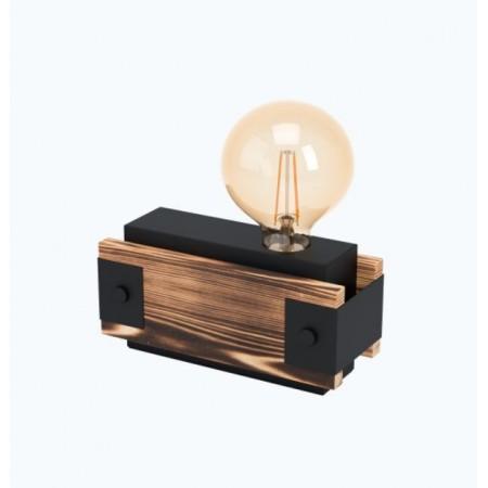 Lámpara de Sobremesa Eglo Layham Madera y Acero