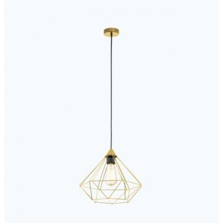 Lámpara Colgante Vintage Eglo Tarbes Latón Cepillado 1xE27 32,5cm