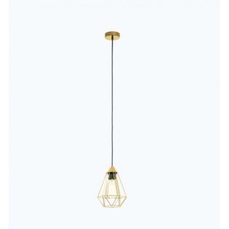 Lámpara Colgante Vintage Eglo Tarbes Latón Cepillado 1xE27 17,5cm