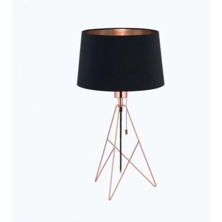 Lámpara de Sobremesa Eglo Camporale 1xE27 Cobre y Negro
