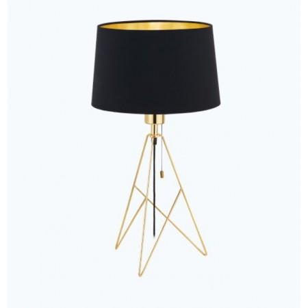 Lámpara de Sobremesa Eglo Camporale 1xE27 Oro y Negro