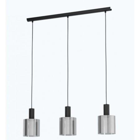 Lámpara Colgante Lineal Eglo Gorosiba 3xE27 Negro